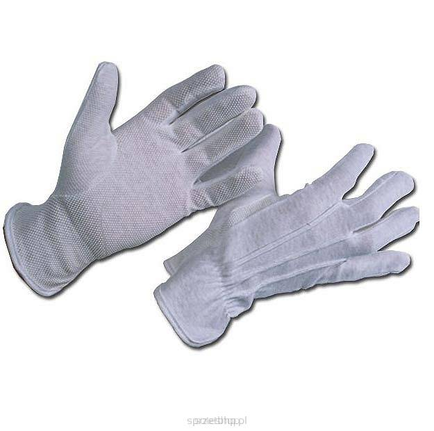 3b41ab910adb63 Rękawice bawełniane mini z nakropieniem PCV
